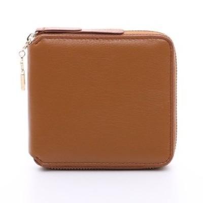 オムニア OMNIA 2つ折り 財布 本革 レディース かぶせ さいふ 二つ折り コインケース付き