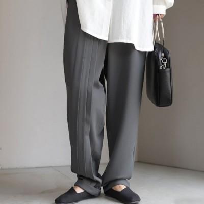 パンツ ボトムス レディース 長ズボン ストレート ポンチ・10月10日0時〜再販。メール便不可