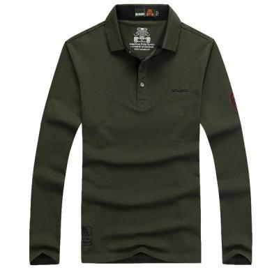 メンズ ポロシャツ 長袖 トップス カットソー 大きいサイズ カジュアル 春 秋冬 ファッション ゴルフウェア ゴルフシャツ