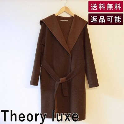 Theory luxeセオリーリュクスフード付コートコートブラウン茶色 アウター おしゃれ