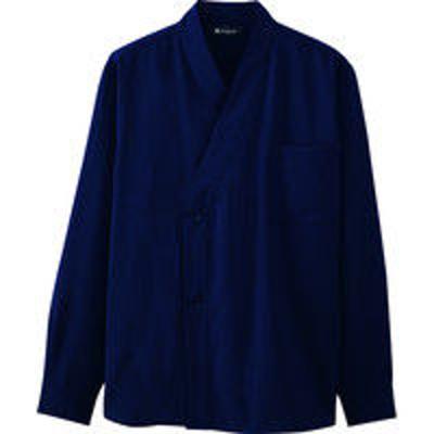チトセチトセ 和風シャツ(長袖)[男女兼用] DN8502_C-5紺_L(取寄品)