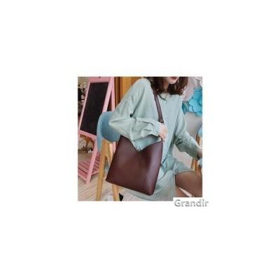 ショルダーバッグ レディース 合成革 鞄 バッグ レザー 斜めがけ ポーチ付き2点セット 春コーデ オフィス 通勤 OL シンプル