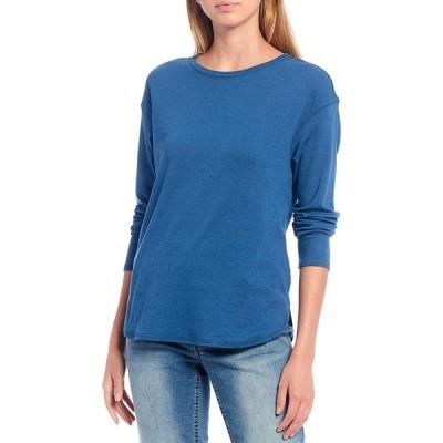 ウェストボンド レディース Tシャツ トップス Long Sleeve Crew Neck Tee Ensign Blue