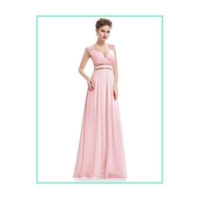 Alisapan Womens V-Neck Long Wedding Bridesmaid Dresses for Women Pink US 6並行輸入品