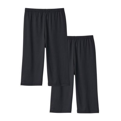 吸汗速乾メッシュでさらり 冷感5分丈オーバーパンツ2枚組(UVカット)(M~L) (レギンス・スパッツ・オーバーパンツ)Leggings