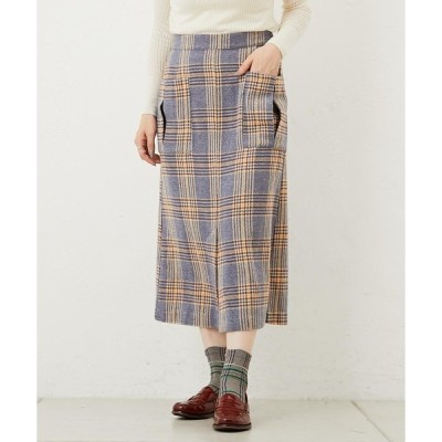 スカート ブルーチェックスカート