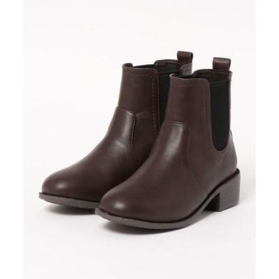 ブーツ 【19.5〜27.0cm】晴雨兼用ブーツ(4cmヒール)