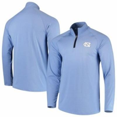 Champion チャンピオン スポーツ用品  Champion North Carolina Tar Heels Carolina Blue Athletic Quarter-Zip Raglan Jacket
