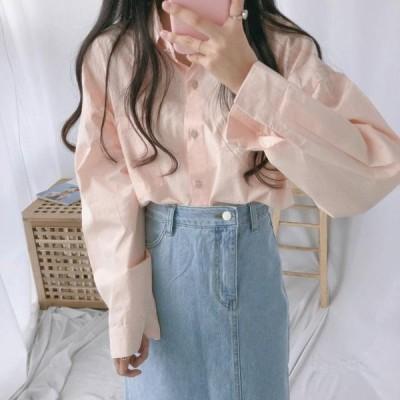GIRLS RULE レディース ブラウス Jad Square Button Shirt
