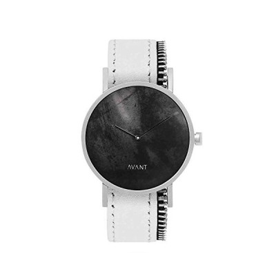 South Lane Stainless Steel Swiss-Quartz Watch with Leather Calfskin Strap, Black, 20 (Model: AW18-2-110) 並行輸入品