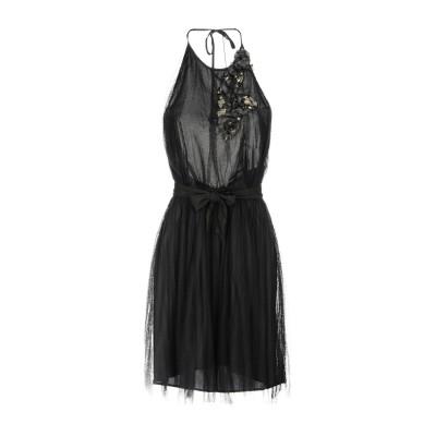 アトス ロンバルディーニ ATOS LOMBARDINI ミニワンピース&ドレス ブラック 44 100% ナイロン ミニワンピース&ドレス