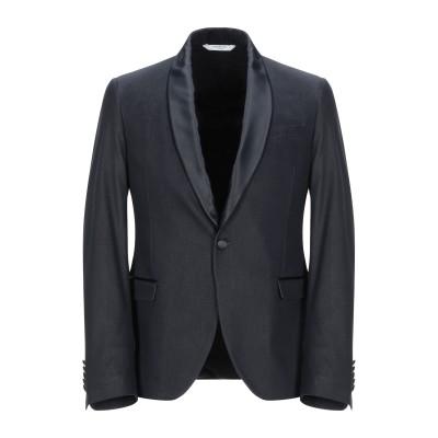 マニュエル リッツ MANUEL RITZ テーラードジャケット ダークブルー 44 コットン 65% / ポリエステル 32% / ポリウレタン