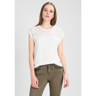 オンリー Tシャツ レディース トップス Print T-shirt - cloud dancer