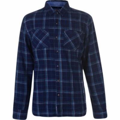 ソウルカル SoulCal メンズ シャツ ネルシャツ トップス Flannel Shirt Navy/Grey/Turq