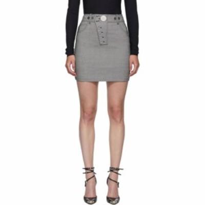 アレキサンダー ワン Alexander Wang レディース ミニスカート スカート black and white snap front miniskirt Black/White