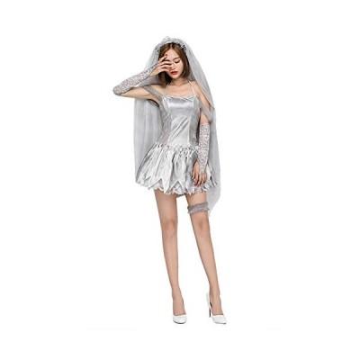 mrcos ハロウィン コスプレ ゾンビ 花嫁 レース コスプレ ドレス 衣装 ゴースト レディース ウェデイング 幽霊・・・