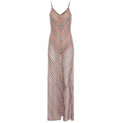 ワイプロジェクト Y/PROJECT レディース ワンピース マキシ丈 ワンピース・ドレス Striped cotton-blend maxi dress Multicolor