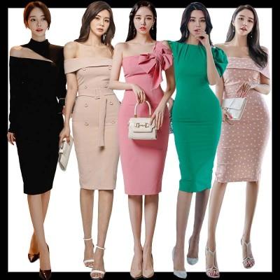 韓国ファッション/ニットワンピース/ パーティードレス/ワンピース/ パーティー/ドレス ワンピ/ ショートドレス 結婚式 二次会