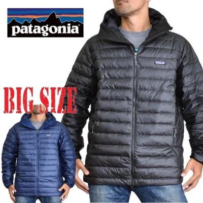 SALE 大きいサイズ メンズ patagonia パタゴニア ダウンジャケット Down Sweater Hoody 84701 黒 ネイビー XL XXL
