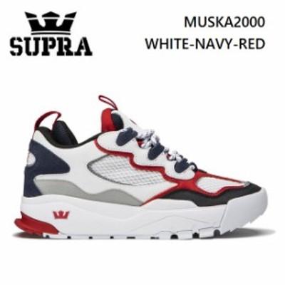 スープラ  SUPRA MUSKA2000 WHITE-NAVY-RED (06582-180) 2020SS  スニーカー スケート