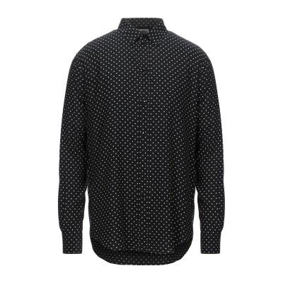 セリーヌ CELINE シャツ ブラック 38 レーヨン 100% シャツ