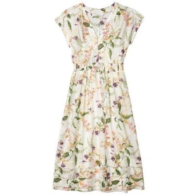 ラッキーブランド レディース ワンピース トップス Floral V-Neck Midi Dress