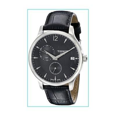 [ティソ] 腕時計 トラディション クォーツ ブラック文字盤 レザー T0636391605700 メンズ 正規輸入品 ブラッ