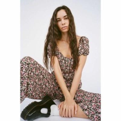 デイジーストリート Daisy Street レディース オールインワン ジャンプスーツ ワンピース・ドレス Floral Puff Sleeve Jumpsuit Multi