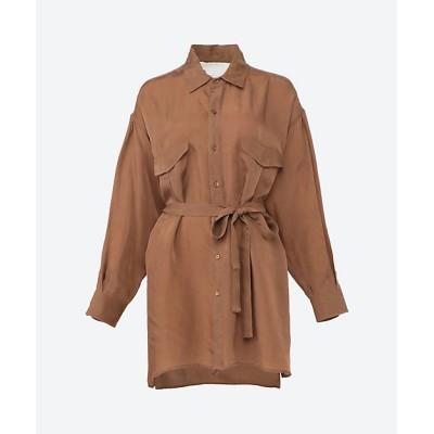 <TICCA(Women)/ティッカ> TBAS-172 サファリシャツ camel【三越伊勢丹/公式】