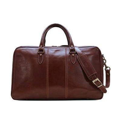 Venezia Suitcase Duffle Bag Weekender in Full Grain Leather並行輸入品