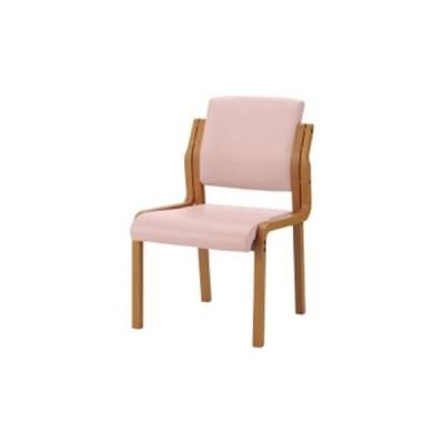 会議用チェア | ジョインテックス 会議イス WFC5LN ピンク 肘無 木製