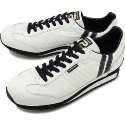 【限定復刻モデル】パトリック PATRICK マラソン・レザー MARATHON-L メンズ レディース スニーカー 日本製 靴 W/B ホワイト系 [98900]