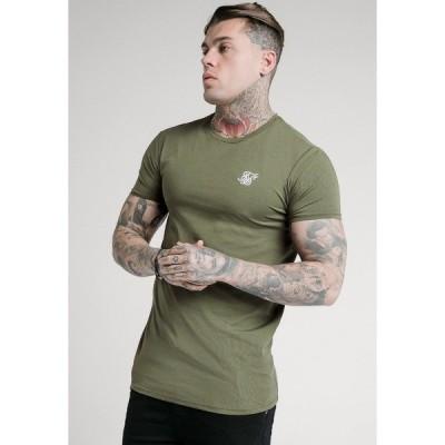 シックシルク Tシャツ メンズ トップス SHORT SLEEVE GYM - Basic T-shirt - khaki