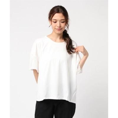 tシャツ Tシャツ 【LA COMFY / ラ・コンフィー】 袖シフォン プリーツ プルオーバー