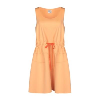 DOUUOD ミニワンピース&ドレス あんず色 44 ポリエステル 94% / ポリウレタン® 6% ミニワンピース&ドレス