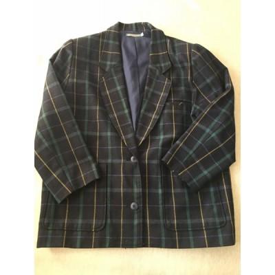 SIMPLE LIFE(シンプルライフ)  ジャケット・レディース・ M   L 紺×緑 やや美品 中古
