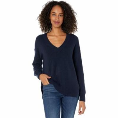 メイドウェル Madewell レディース ニット・セーター Vネック トップス Bartlett V-Neck Pullover Sweater in Coziest Yarn Heather Midn