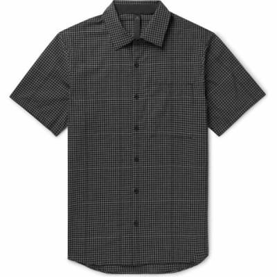 ルルレモン LULULEMON メンズ シャツ トップス checked shirt Black