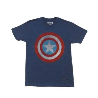 Tシャツ マーベルコミック Captain America Shield Burnout Marvel Comics Licensed Adult T Shirt