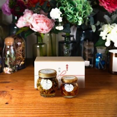 ナッツの蜂蜜漬け エトワールL(200g) + ナッツの蜂蜜漬けM(80g) / ナチュラルクラフトボックス(M) + 熨斗