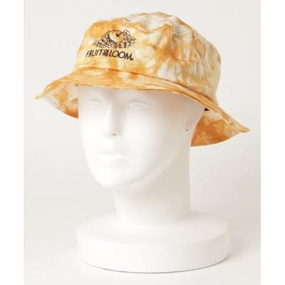 JUGLANS / FRUIT OF THE LOOM 後染め COTTON LOGO BUCKET HAT WOMEN 帽子 > ハット