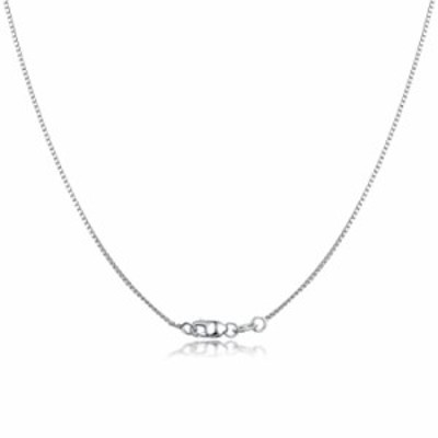 925 Sterling silver Box Chain Necklace 16-30 inches Options Thin 1.0mm Italian Necklaces White Gold Plated Hypoallergenic Jewelr