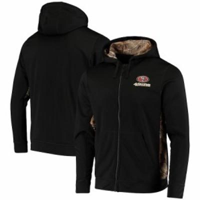 """メンズ ジャケット """"San Francisco 49ers"""" Decoy Tech Fleece Full-Zip Jacket - Black/Realtree Camo"""