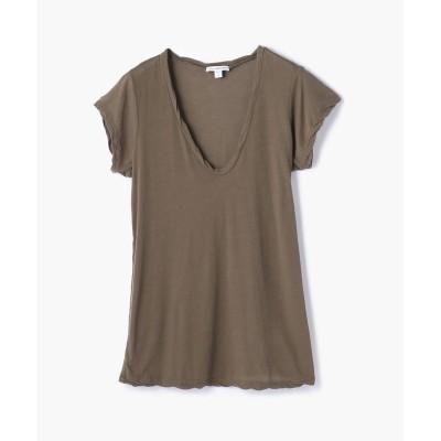 【トゥモローランド】 ハイゲージ VネックTシャツ WEK3182 レディース 58ダークグリーン 0(S) TOMORROWLAND