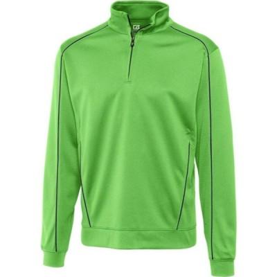 カッター&バック Cutter & Buck メンズ スウェット・トレーナー 大きいサイズ トップス Big & Tall DryTec Edge Half Zip Sweatshirt Green