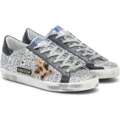 ゴールデン グース Golden Goose レディース スニーカー シューズ・靴 superstar leather-trimmed sneakers Silver/Beige Brown Leo/Blac