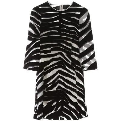 ドルチェ&ガッバーナ レディース ワンピース トップス Dolce & Gabbana Zebra Print Sheer Mini Dress -