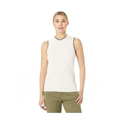 NIC+ZOE ニックアンドゾー レディース 女性用 ファッション セーター Scallop Sweater Tank - Milk White Heather