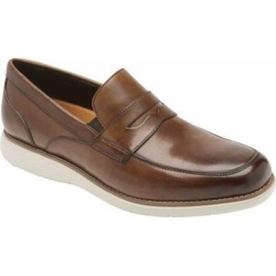 ロックポート メンズ スリッポン・ローファー シューズ Garett Penny Loafer Cognac Gradient Leather