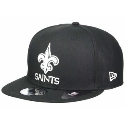 ニューエラ メンズ 帽子 アクセサリー NFL Basic Snap 9FIFTY Snapback Cap - New Orleans Saints Black 3